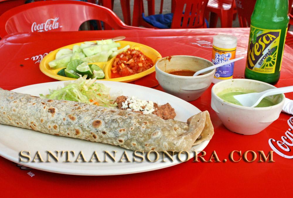 A Santa Ana Sonora carne asada burrito