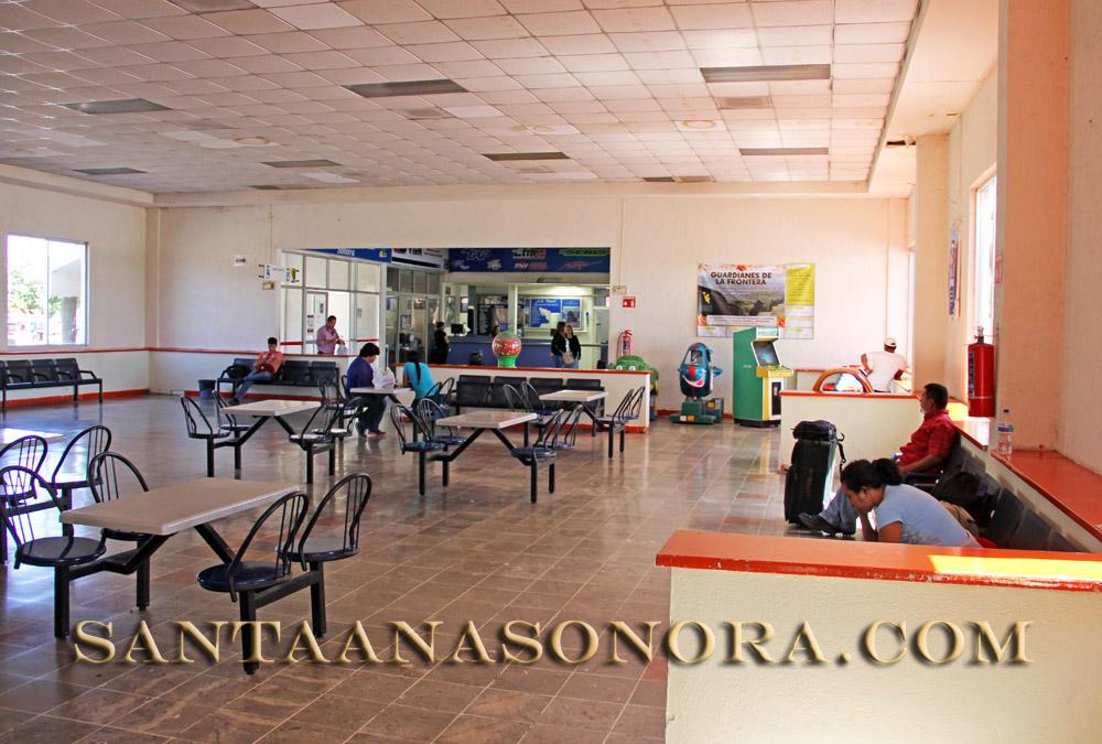 The Estrella Blanca / TAP bus terminal in Santa Ana Sonora Mexico